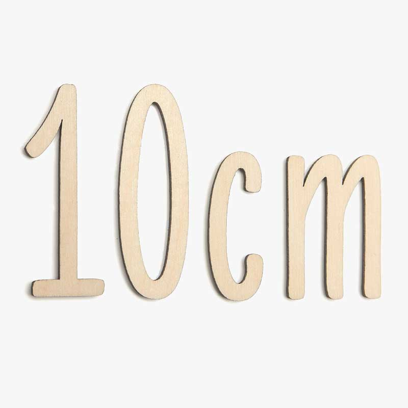 10cm Wooden Letters