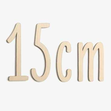 15cm wooden letters