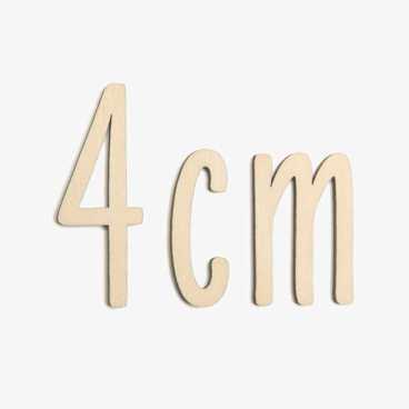 4cm wooden letters