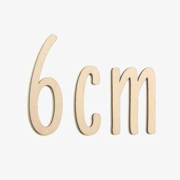 6cm wooden letters