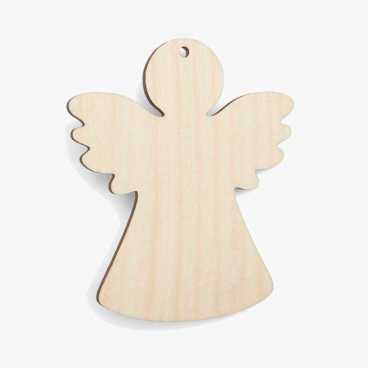 Wooden Angel Christmas Decoration Craft Shape