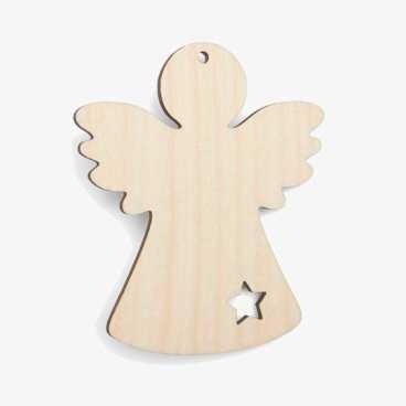 Wooden Angel Christmas Decoration Craft Shape