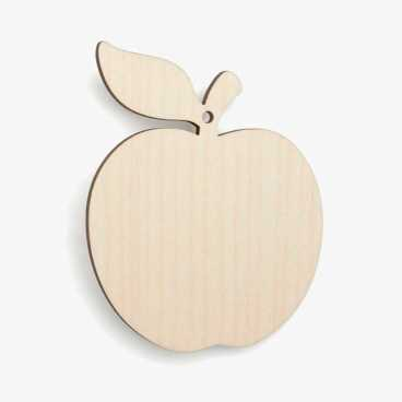 Wooden Birch Plywood Cupcake Apple Shape Blank