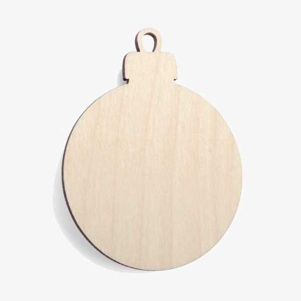 Wooden Bauble Christmas Decoration Craft Shape