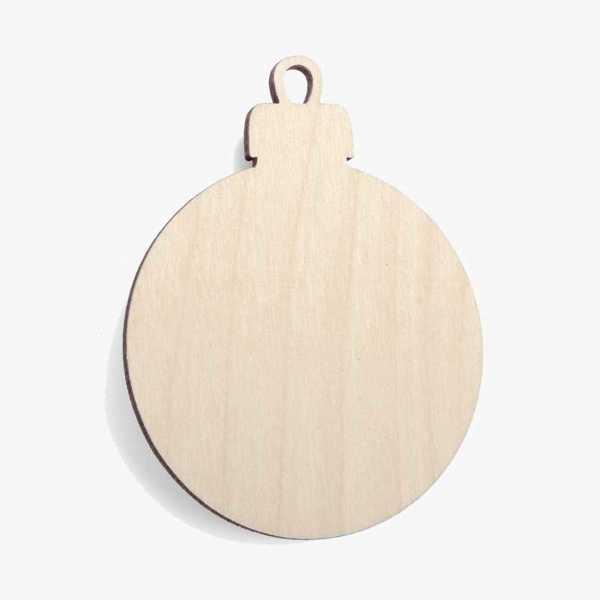 Wooden Bauble Christmas Decoration Craft Shape