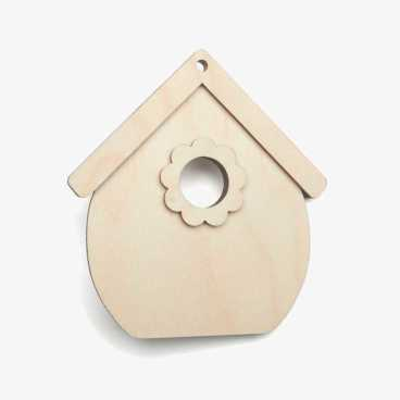 Wooden Birch PlywoodBirdhouse Craft Shape Kit