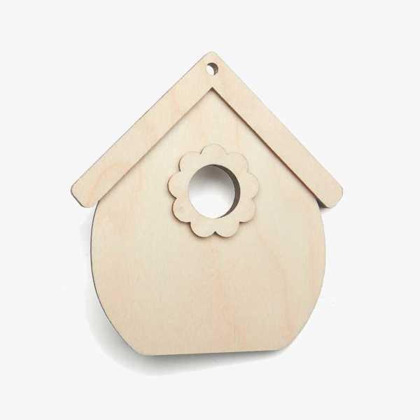 Wooden Birch PlywoodBirdhouse Craft Shape Kit