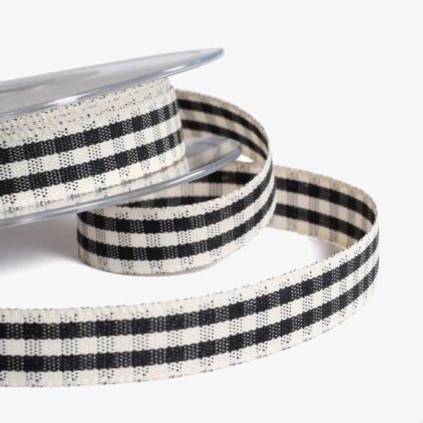 Black Rustic Gingham Ribbon