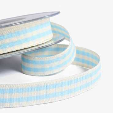 Blue Rustic Gingham Ribbon