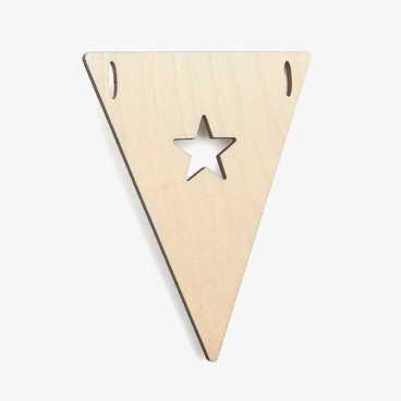 Wooden Bunting Flags - With Stars