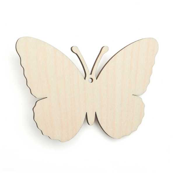 Wooden Butterfly Bunting Shapes