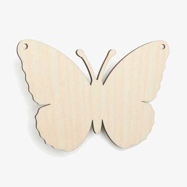 Wooden Birch Plywood Butterfly Bunting Craft Shapes Blank