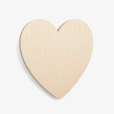 Wooden Birch Plywood Classic Heart Blank Craft Shape
