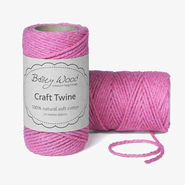 Candy Pink - Cotton Twine