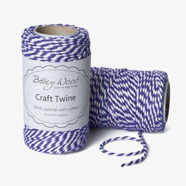Amethyst - Cotton Stripe Twine