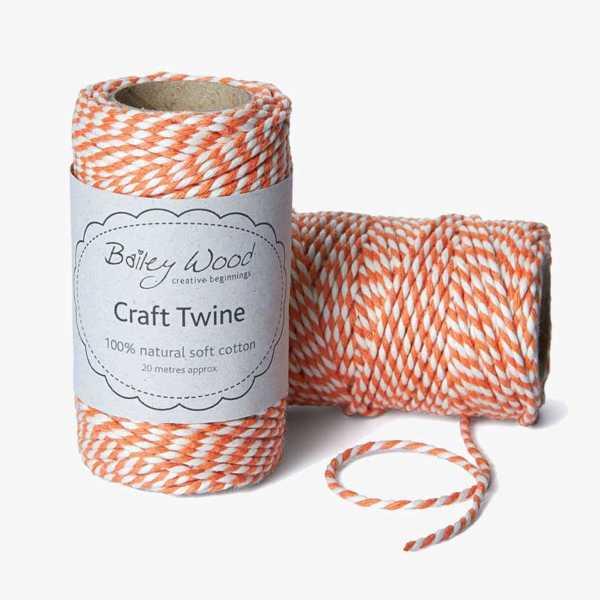 Clementine - Cotton Stripe Twine