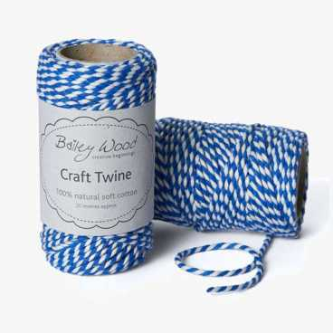 Cornish Blue - Cotton Stripe Twine