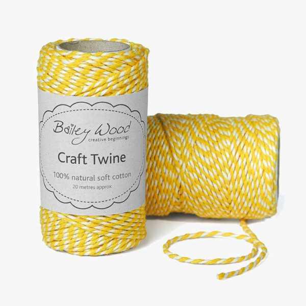 Daffodil - Cotton Stripe Twine