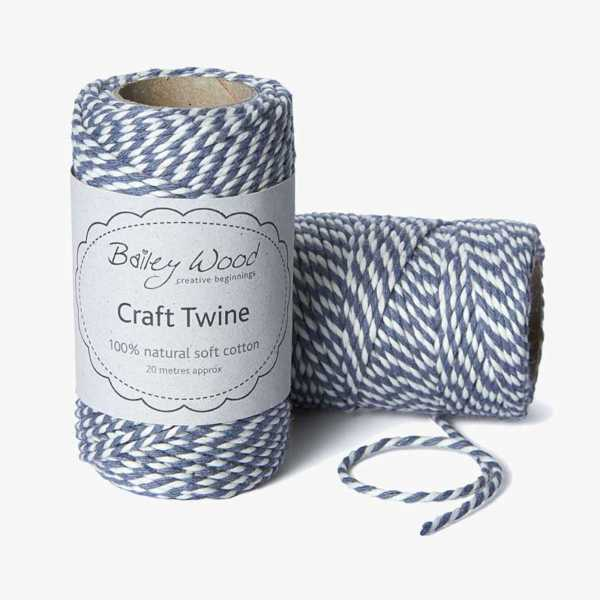 Graphite - Cotton Stripe Twine