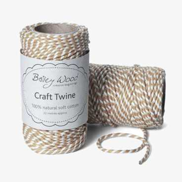 Natural Buff - Cotton Stripe Twine