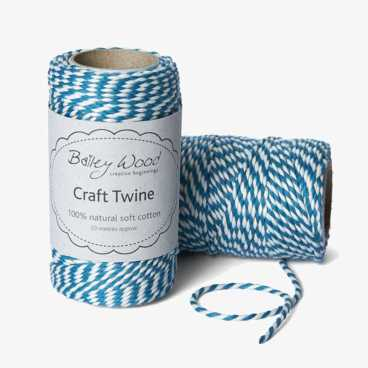 Petrol Blue - Cotton Stripe Twine