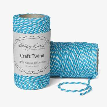 Sky - Cotton Stripe Twine