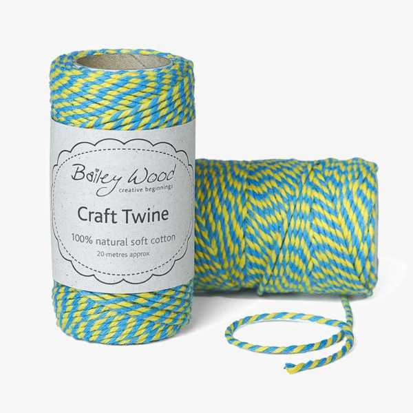 Sky & Daffodil - Cotton Stripe Twine