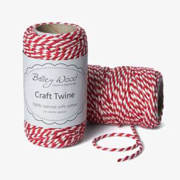 Strawberry - Cotton Stripe Twine