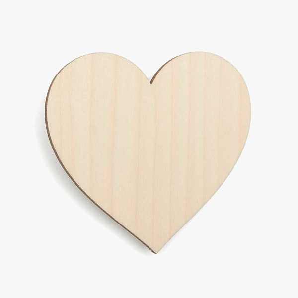 Wooden Birch Plywood Heart Blank Craft Shape