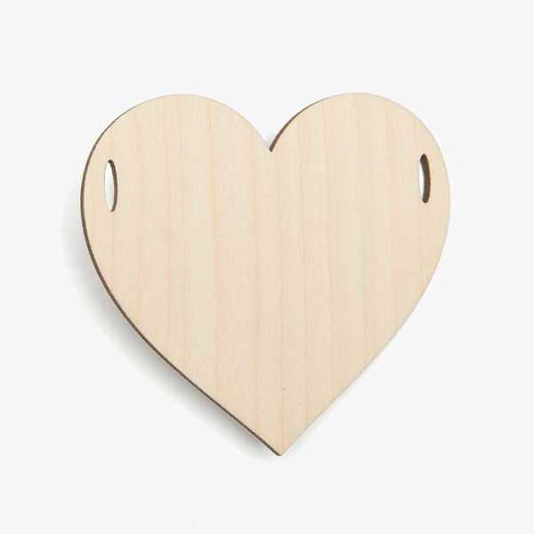 Wooden Birch Plywood Bunting Garland Heart Craft Shape