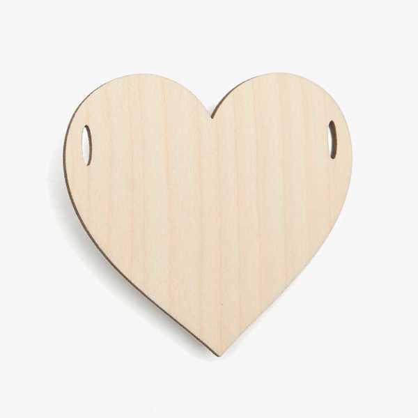 Wooden Birch Plywood Bunting Garland Heart Craft Shape