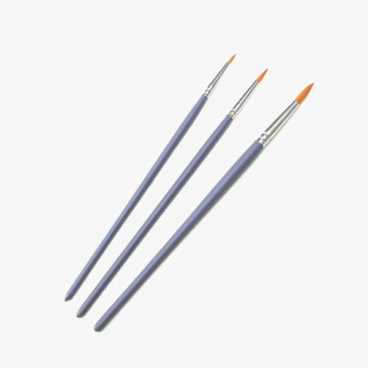 Craft Paint Brushes - 3 Round