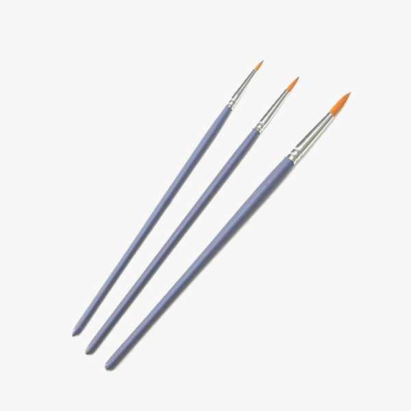 Craft Paint Brushes - 3 Round