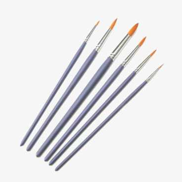 Craft Paint Brushes - 6 Round