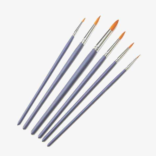 Craft Paint Brushes - 6 Round