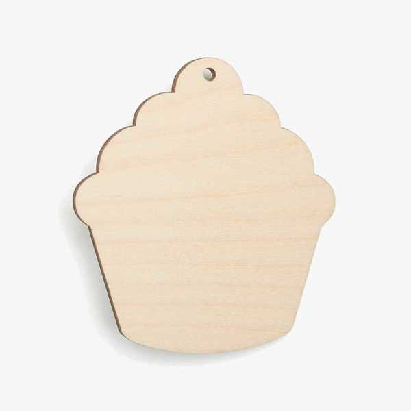 Wooden Birch Plywood Cupcake Craft Shape Blank