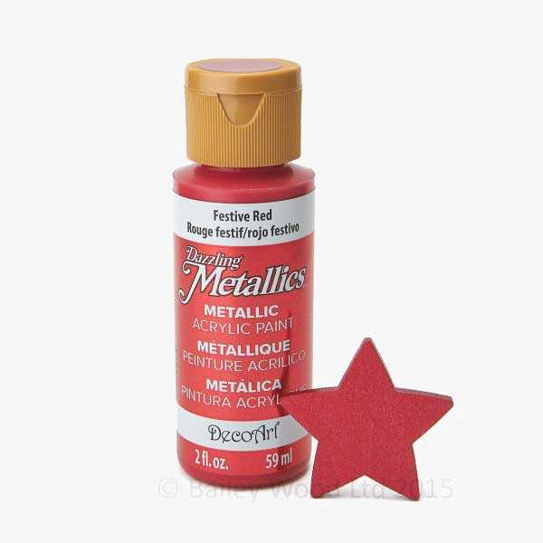 Festive Red - DecoArt Metallic Paint