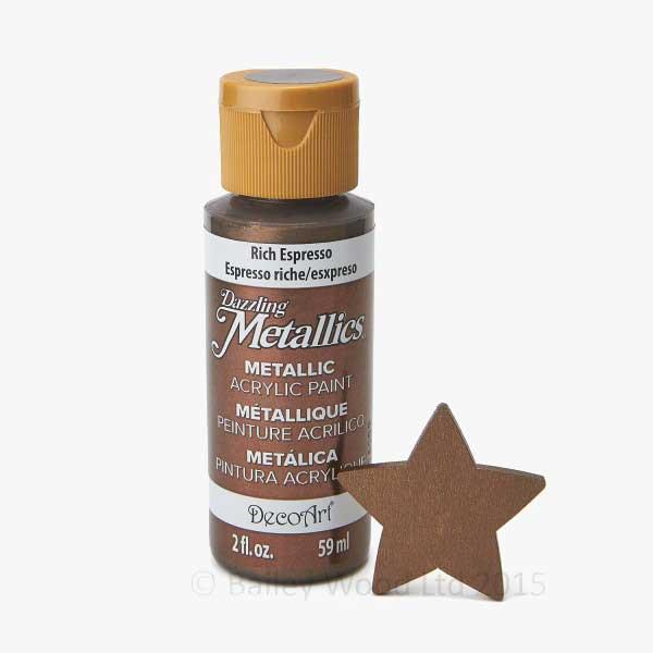 Rich Espresso Decoart Metallic Paint Bailey Wood