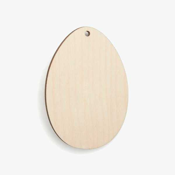 Wooden Easter Egg Decoration Craft Shape Blank