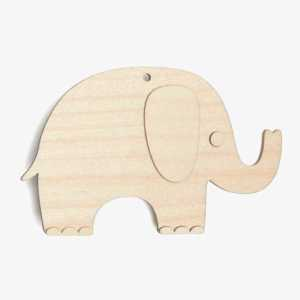 Wooden Birch Plywood Elephant Craft Shape Kit