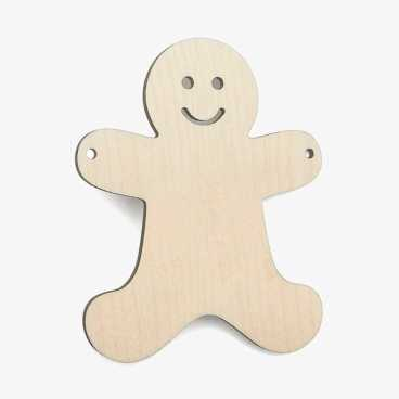 Wooden Gingerbread Bunting Christmas Decoration Craft Shape