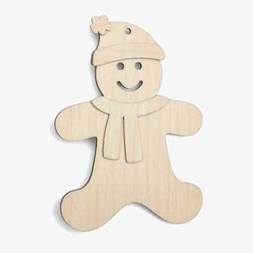 Wooden Gingerbread Man Christmas Craft Kit