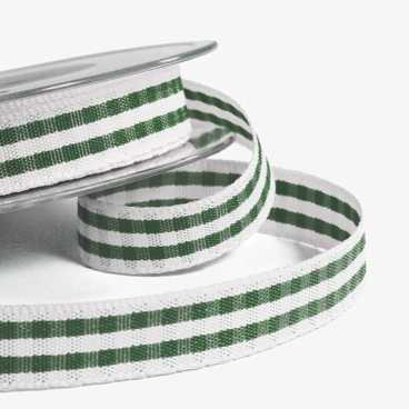 Green Rustic Gingham Ribbon