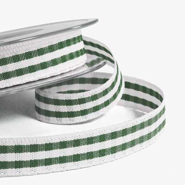 Green Rustic Gingham Ribbon