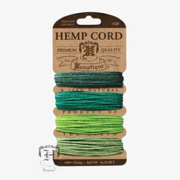 Emerald Hemp Cord Set