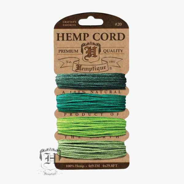 Emerald Hemp Cord Set
