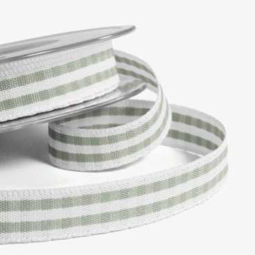 Khaki Rustic Gingham Ribbon