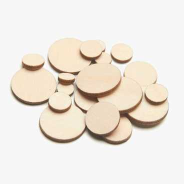 Wooden Circle Embellishments