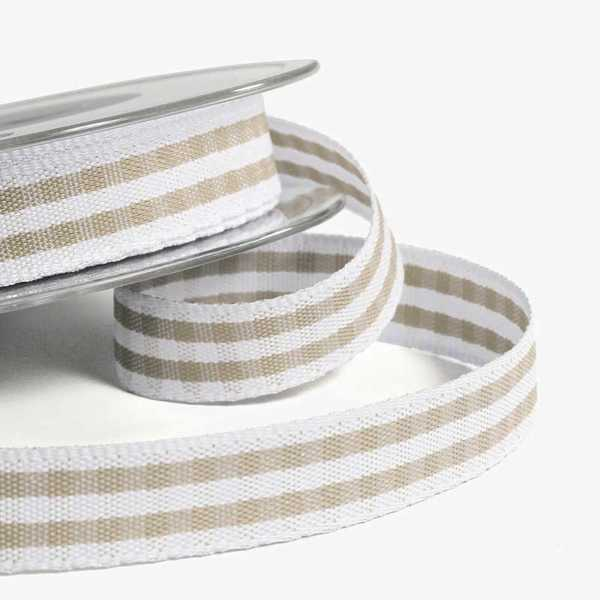 Natural Rustic Gingham Ribbon