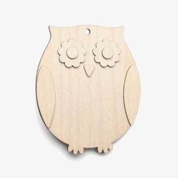 Wooden Owl Decoration Craft Shape Kit